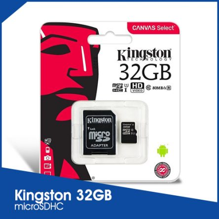 Kingston 32GB Canvas Select microSDHC with Adapter